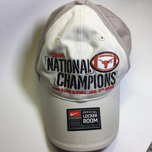NCAA TEXAS LONGHORNS 2005 FOOTBALL NATIONAL CHAMPIONS LOGO HAT NWT